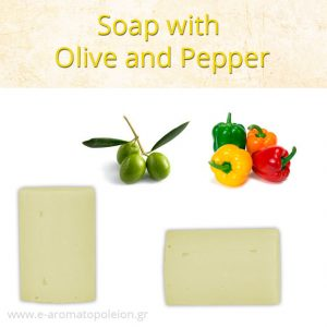 Olive with pepper soap