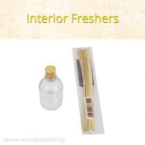 Interior freshers with Fragrance, 50ml with sticks
