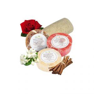 Exfoliating loofah glycerin soap. Cinnamon, 100gr