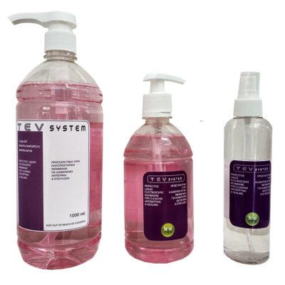 Antiseptic protective electrostatic liquid